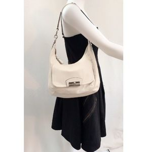 COACH 💝 Kristin Hippie Leather Hobo Bag Ivory